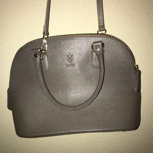 Florence leather market- Medium-sized Grey purse